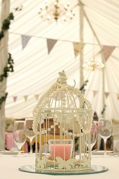 One of our beautiful vintage centrepiece options