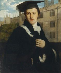 Thomas Phillips — Portrait of an Oxford Undergraduate, perhaps Sir Henry Delves Broughton, Bt : The Ashmolean Museum of Art and Archaeology/ Oxford. Baronet, Cap And Gown, English Artists, Art Uk, Favorite Words, Portrait Art, Portraits, Male Face, Cover Art