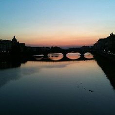 Our first sunset in gorgeous Florence.