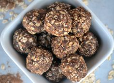 Cocoa and Peanut Butter Oat Balls - Fit Foodie Finds