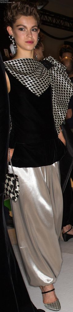 Armani Privé Fall 2016 Couture - EE Armani Prive, Italian Fashion, Fashion Show, Fashion Design, Bollywood Fashion, White Fashion, Rock, Glamour, Fall 2016