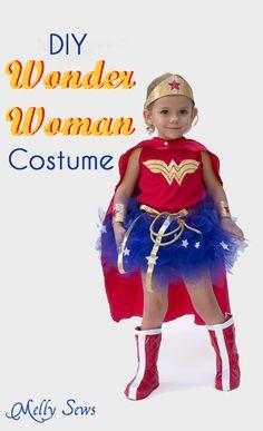 DIY Wonder Woman Costume - Make a Tutu - Melly Sews