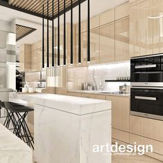 Beautiful Kitchen Designs, Modern Kitchen Design, Beautiful Kitchens, Home Fashion, Interior Design Living Room, Living Area, Sweet Home, Home And Garden, House Styles