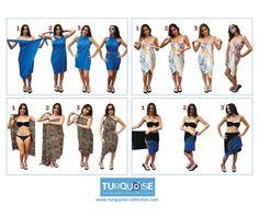 Multiple ways to wear a Turkish towel