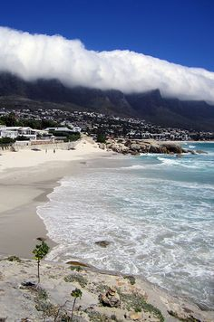 Get yourself to the beach! The Camps Bay strip in Cape Town is a lively blend of cafes, restaurants and bars that stretch from end to end — these spots are perfect for a view of the World Cup. Find more best places to watch the World Cup in South Africa: http://pin.it/LApZUmR