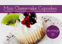 This delicious mouth watering treat has a lot of cheese, no flour and is ready in 30 min. Mini Cheesecake Cupcakes, Dessert Recipes, Desserts, Lunches And Dinners, Coffee Cake, Us Foods, Smoothies, Favorite Things, Treats