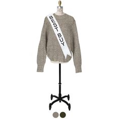 #beigesweater middle-gauge pullover