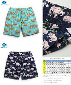 [Visit to Buy] 2016 Men boardshorts Shorts Brand Summer loose Beach Shorts Men's Surf Board Shorts Quick Dry gym sports plus size gailang b5 #Advertisement
