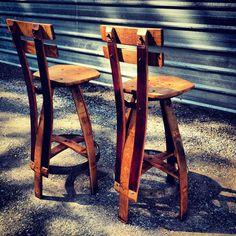 Reclaimed Furniture, Wine Barrel Barstools: Missoula, MT   THE VINOTURE GALLERY