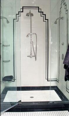 Shower - Art Deco - Tile Layout