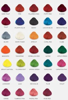 A longtime bestseller and cult favorite, Directions by La Riche brightly colored semi-permanent hair dye comes in 34 exciting, vivid shades that cover all colors of the rainbow. Try this vivid hair dye to create pastel candy colored hair! http://www.eyecandys.com/directions-by-la-riche-bright-hair-color/: