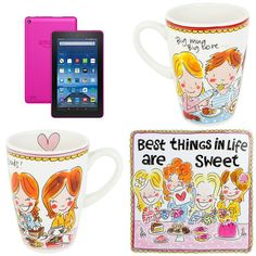 With Love for Books: Kindle Fire 7, Amazon Gift Card & Blond Amsterdam Mugs & Tin Giveaway