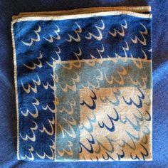 Hankerchef or Hanky Vintage, Machine Stitched Hem ( by AntiqueCarla on Etsy
