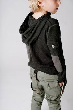 Aven Slub Knit Hooded Pullover #lookbooks #kidsfashion