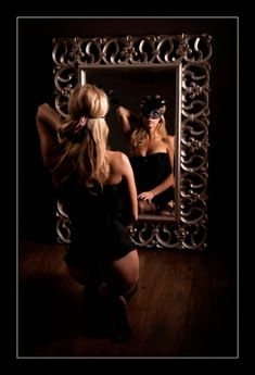Boudoir Photography... Just who is the lady behind the mask ?!?!?!