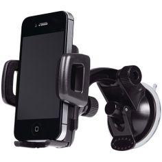 Merkury M-UPW110 Smartphone Windshield Car Mount, Black: Accessories : Walmart.com