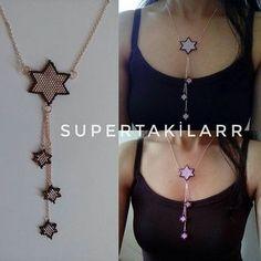 Miyuki 4 star necklace Designed by supertakilar Own design . - Miyuki 4 star necklace Designed by supertakilar My own design . that Umeda - Seed Bead Earrings, Beaded Earrings, Earrings Handmade, Beaded Bracelets, Beaded Jewelry Designs, Necklace Designs, Bead Crochet Patterns, Necklace Display, Necklace Tutorial