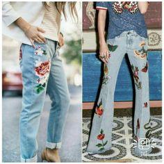 """84 curtidas, 1 comentários - Dalê (@dalefashionwork) no Instagram: """"Inspirações DaLê!!! .. Jeans bordado dando vida ao look!!!! .. #inspiraçõesdalê #inspiracao…"""""""