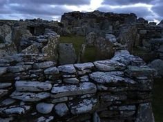 The Broch of Gurness as twilight falls and the spirits rise. So happy to be returning here in about ten days time!