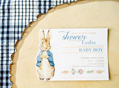 Peter Rabbit Shower Ideas | was a wonderful time to sit and talk with friends as well as showering ...