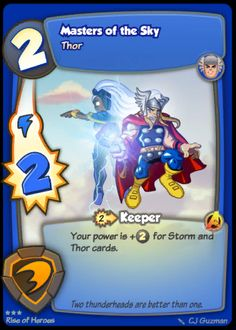 super hero squad trading card game thor storm avengers