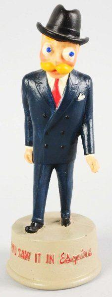 Esquire Man Advertising Figure.