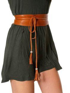2cb94804f Leather tassel belt, brown obi belt, sash belt, leather waist belt, kimono  belt, tan sash belt, belt ties, wrap tie belt, sash boho belt