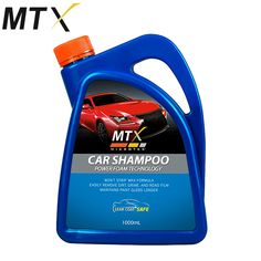 Model: MS-101 1000mL MTX CAR SHAMPOO HAS SUPERB POWER FOAM TECHNOLOGY More CLeaning power that won't strip wax on your paint surface Maintain gloss Longer Safe & Easily remove dirt, grime & road film Contains: Sodium, Lauryl, Ether, Sulfate, PKD, Thickener, Perfume & others Clearcoat