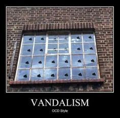 Funny pictures about OCD Vandalism. Oh, and cool pics about OCD Vandalism. Also, OCD Vandalism. Haha Funny, Funny Jokes, Funny Stuff, Funny Things, Funny Shit, Random Stuff, Weird Things, Funny Texts, Random Things