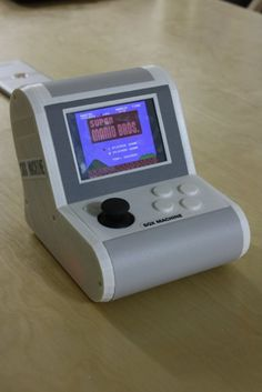 printed but text is all in Japanese Retro Pi, Arcade Bartop, Portable Game Console, Mini Arcade, Raspberry Pi Projects, Retro Games, Arcade Machine, Diy Games, Epoch