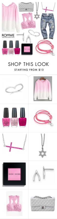 """""""think pink : romwe"""" by mlgjewelry on Polyvore featuring OPI, Oxford Ivy, Amanda Rose Collection, Bobbi Brown Cosmetics, Free People and Chanel"""