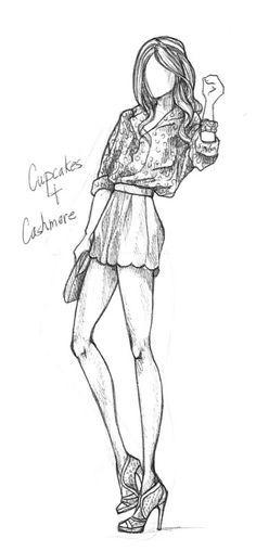 Super fashion design sketches black and white Ideas Cupcake Illustration, Illustration Mode, Illustrations, Dress Sketches, Drawing Sketches, Pen Sketch, Sketching, Arte Fashion, Fashion Figures