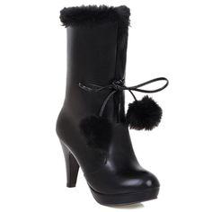 4322 Buy here httpdiznfjustgoodpwgo Good ThingsHeel BootsCalvesShoes Heels BootsBaby CowsShoes Heels