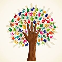 Colorful solidarity isolated conceptual tree.  file layered for easy manipulation and custom coloring.