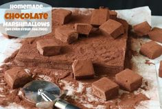 Homemade Chocolate Marshmallows - would put the corn syrup back in place of the rice bran syrup to see if this version of cocoa marshmallows would actually work for me.