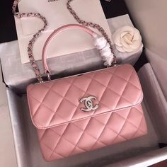 c3e0a2c32620 Bella Vita Moda online fashion boutique · Chanel Small Trendy CC Top Handle  Bag Quilted Lambskin Pink #handbags #fashion #bags