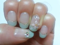 my nails, march 2012 __ had this one done at a nail salon
