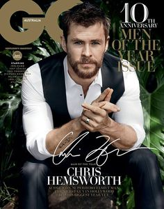 Chris Hemsworth Does a Sexy Photo Shoot for GQ Australia's Men of the Year!: Photo Chris Hemsworth looks so incredibly hot for GQ Australia's Men of the Year cover! The actor was recognized with a cover, as well as Jon Hamm and… Chris Hemsworth Thor, Gq Magazine Covers, Magazine Photos, Snowwhite And The Huntsman, Gq Mens Style, Gq Style, Gq Australia, Hemsworth Brothers, Moda Masculina