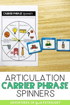 Use these fun speech therapy articulation spinners with carrier phrases! Can help to move beyond the word level and allows you to have different activities in your speech therapy room Articulation Therapy, Speech Therapy Activities, Childhood Apraxia Of Speech, Phonological Processes, Speech Delay, School Closures, Speech Pathology, Therapy Ideas, Special Education
