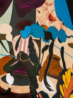 Juxtapoz Magazine - Distilling Obsessions and Fascinations: An Interview With Kenichi Hoshine Pink Tea Dresses, School Of Visual Arts, Paintings I Love, Abstract Shapes, Vintage Movies, Watercolor And Ink, Artist Art, Fascinator, Painting & Drawing