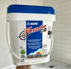 Best grout ever! Everything about timing here! Tub of Mapei Flexcolor Cq Grout Grey Tile Grout, White Subway Tiles, Water Based Stain, Young House Love, U Bahn, Beach Bathrooms, House Tiles, Colors, Bath