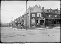 92 Roncesvalles, from the City of Toronto Archives Toronto Ontario Canada, Historical Architecture, Old Pictures, Historical Photos, Places To Go, Past, That Look, Street View, History
