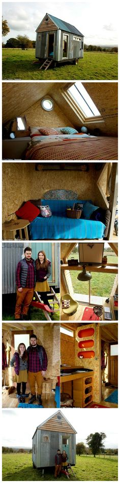 Couple build tiny cabin from SCRAP for just £1,000 so they can save for a deposit
