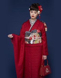 Traditional Japanese Kimono, Traditional Fashion, Traditional Dresses, Modern Kimono, Oriental, Japanese Outfits, Kimono Dress, Yukata, Japan Fashion