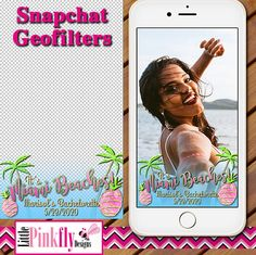GF-544 Miami Beaches Snapchat Geofilter Summer party