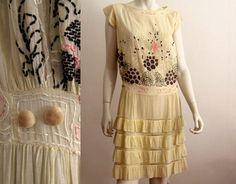 1920s Day Dress / Art Deco Drop Waist / Hand by AntiqueGraces, $255.00