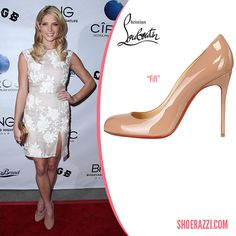 louboutin imitations - Stana Katic in Christian Louboutin Pigalle Nude Patent Leather ...