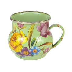 MacKenzie-Childs   Flower Market Mug in Green