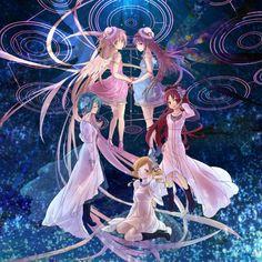 Puella Magi Madoka Magica | Kyouko Sakura | Sayaka Miki | Mami Tomoe | Madoka Kaname | Homura Akemi
