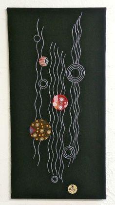 Contemporary Sashiko and Applique wall.